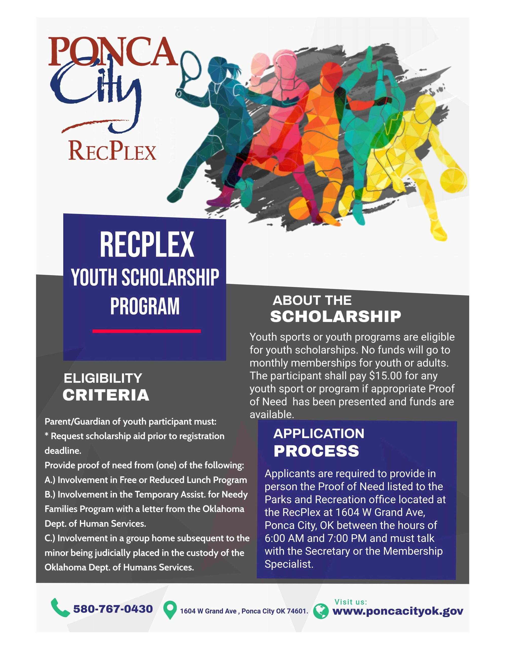 Youth Scholarship Program RecPlex